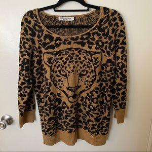Cotton Emporium Cheetah Print Sweater